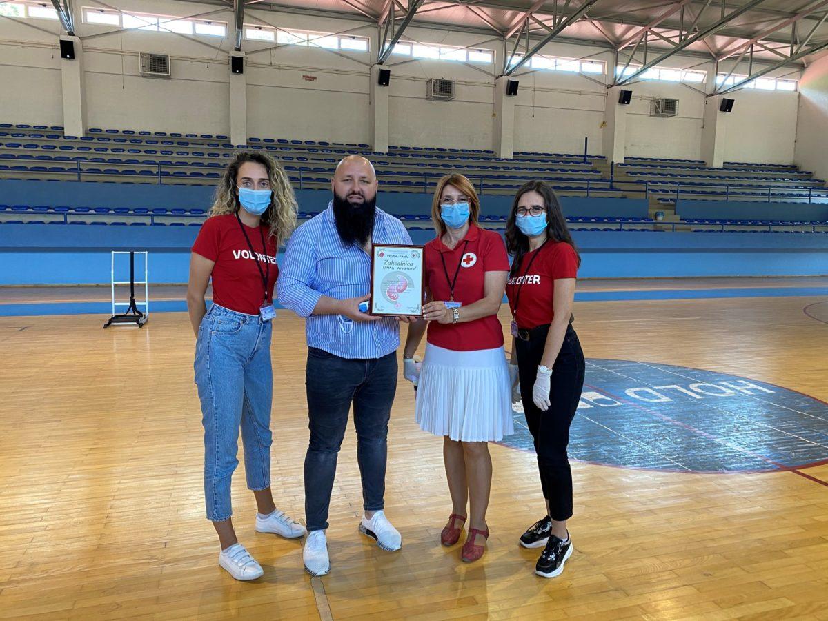 Nihad-ef. Ahmetović – dobitnik zahvalnice Crvenog križa za 50 puta darovanu krv