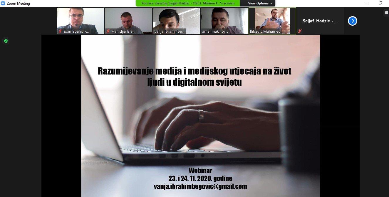 """ONLINE EDUKACIJA: UDRUŽENJE ILMIJJE ODRŽALO WEBINARE """"RAZUMJEVANJE MEDIJA I MEDIJSKOG UTJECAJA NA ŽIVOT LJUDI U DIGITALNOM SVIJETU"""""""