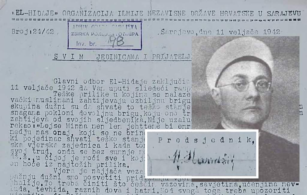 PROGLAS EL-HIDAJE IZ 1942. GODINE: SVETA DUŽNOST MUSLIMANA JE DA NE BUDE ZLOČINAC